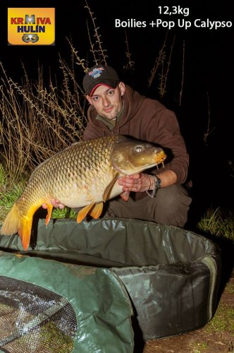 12,3kg, boilies Calypso, pop up Calypso